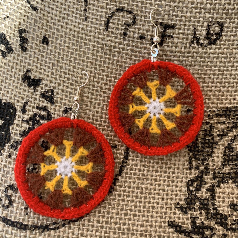 Sunshine Mandala Earrings
