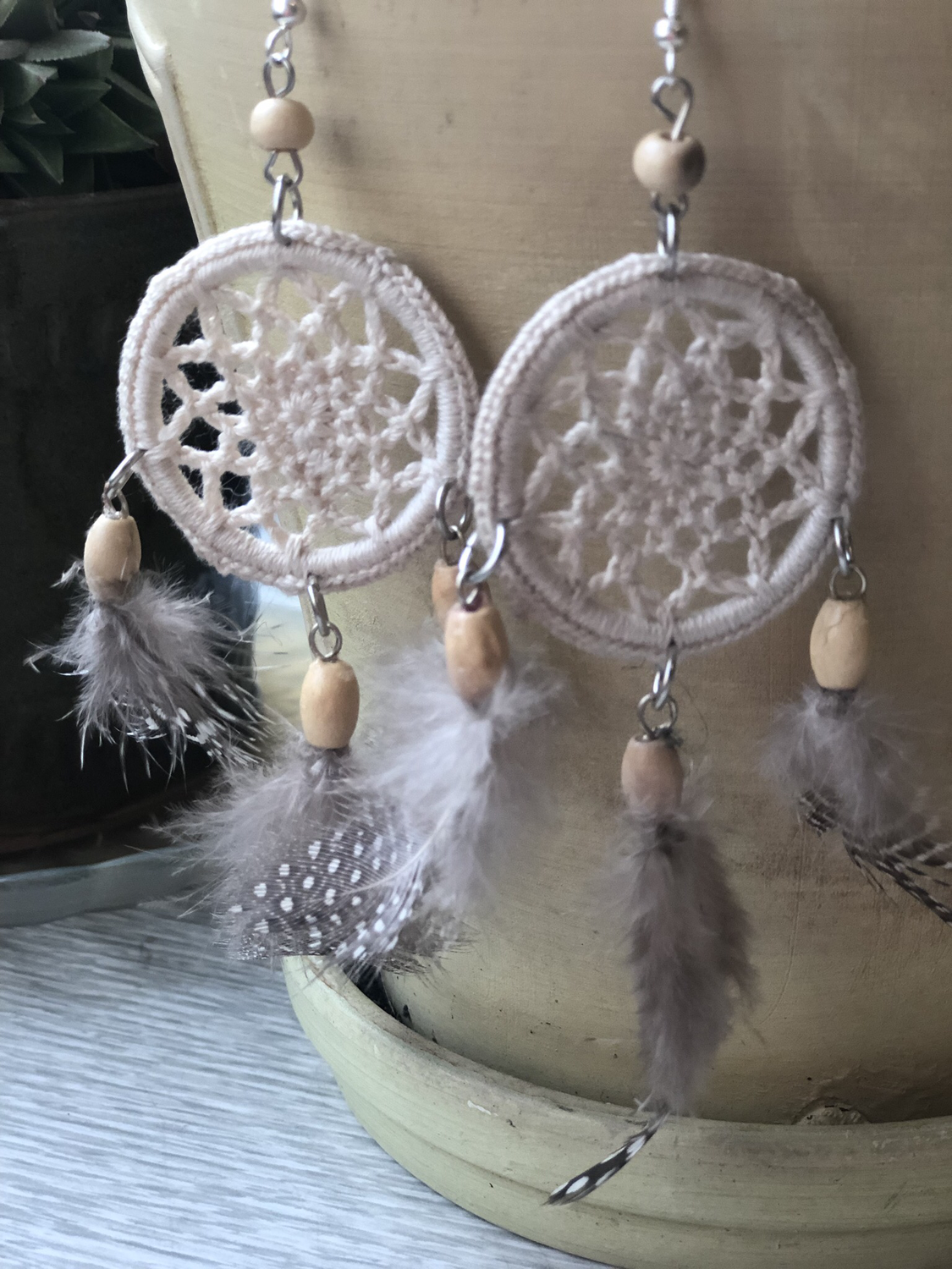 Crochet Dreamcatcher Earrings