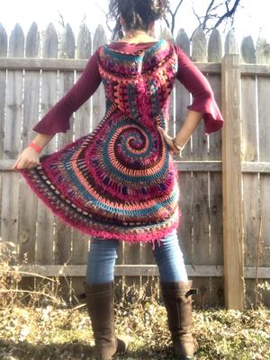 Crochet Spiral Vest