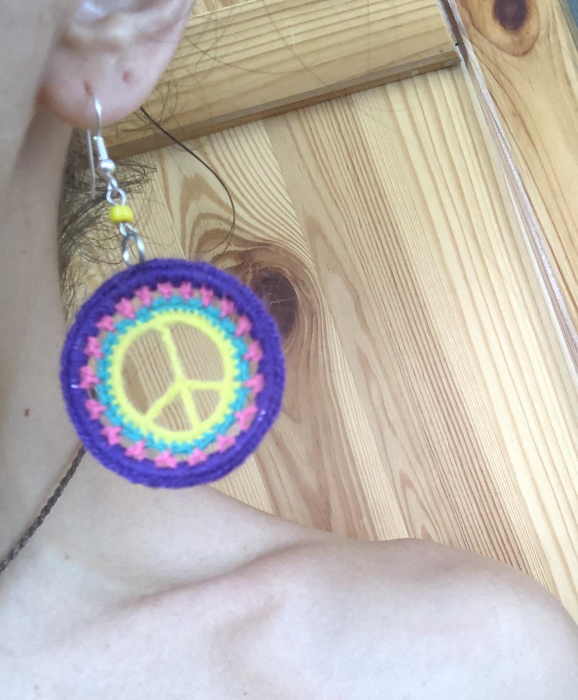 Crochet Peace Earrings