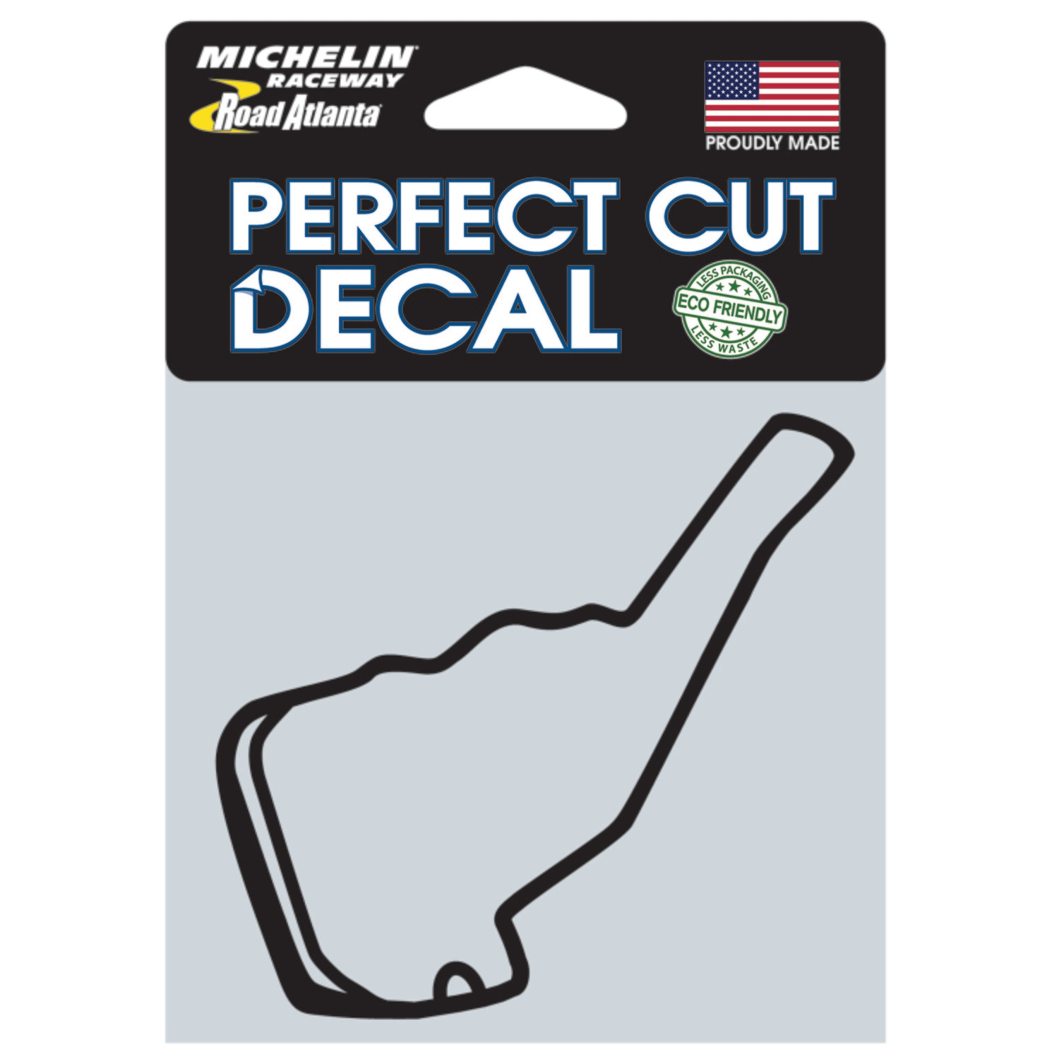 RA Track Outline Sticker, SM Black