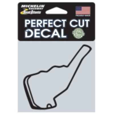 Michelin Raceway Road Atlanta Track Outline Sticker, SM Black