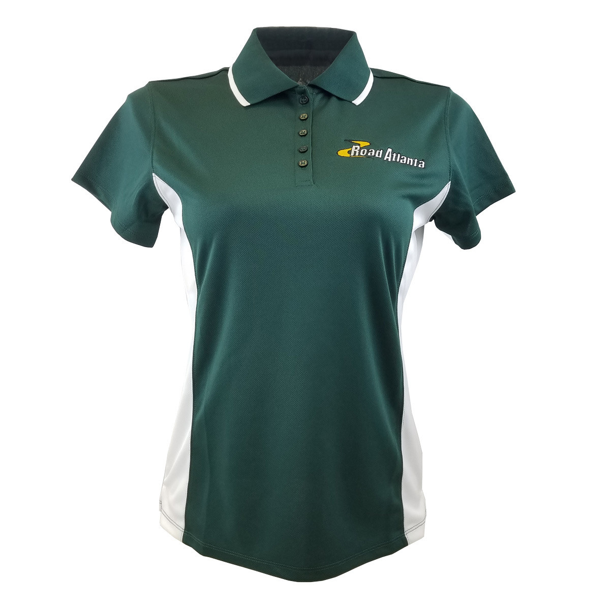 Road Atlanta Ladies Polo- Forest Green/White