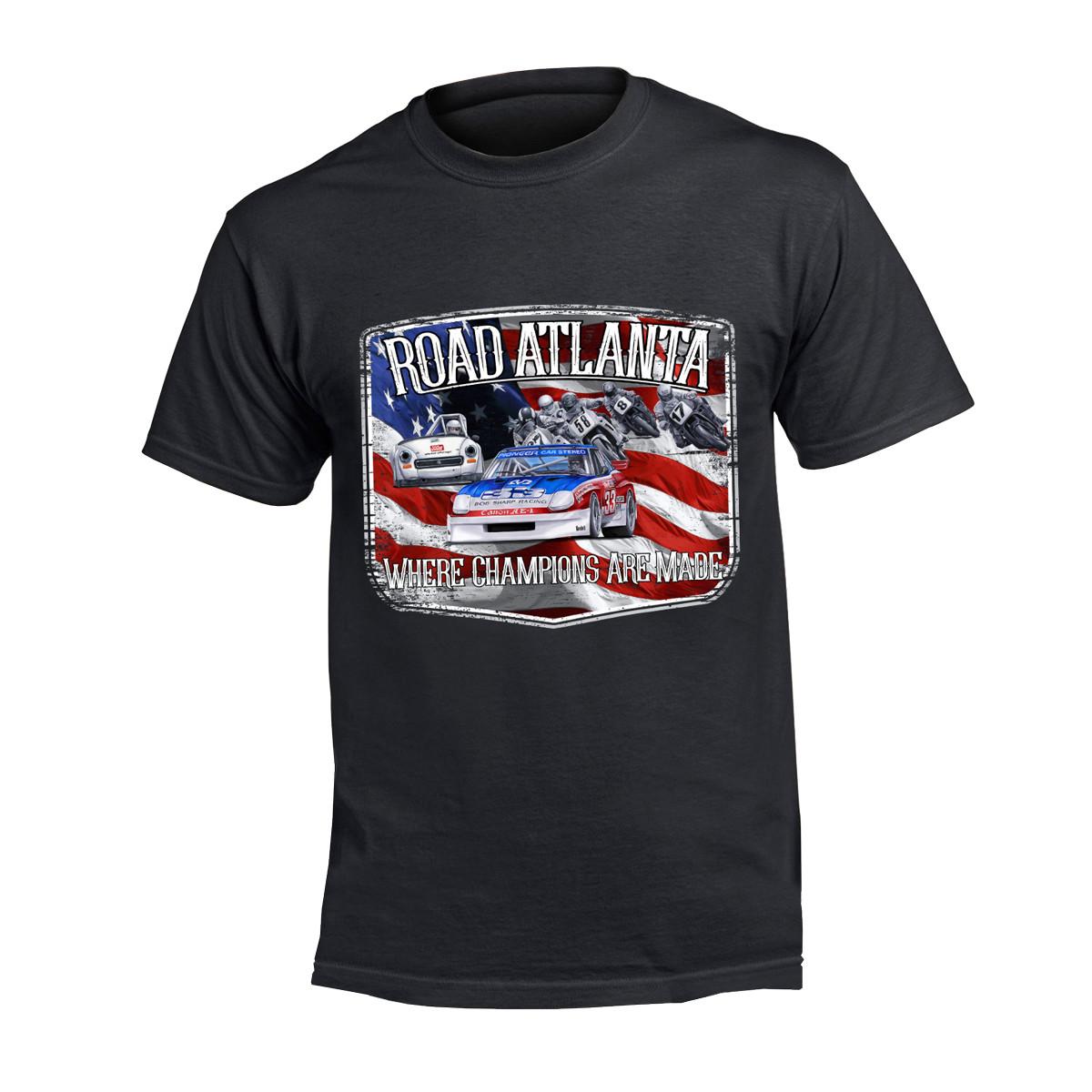 RA American Flag Tee - Black