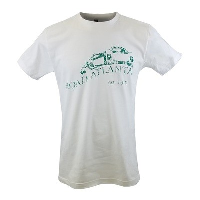 Road Atlanta Distressed Vintage Logo Tee - White