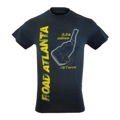 Road Atlanta Vertical Tee - Black