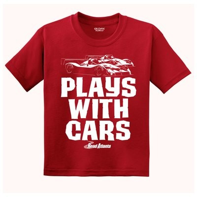 Road Atlanta Plays With Cars Youth Tee - Red