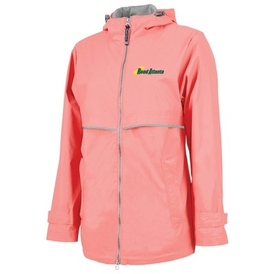 Road Atlanta Ladies Rain Jacket- Coral