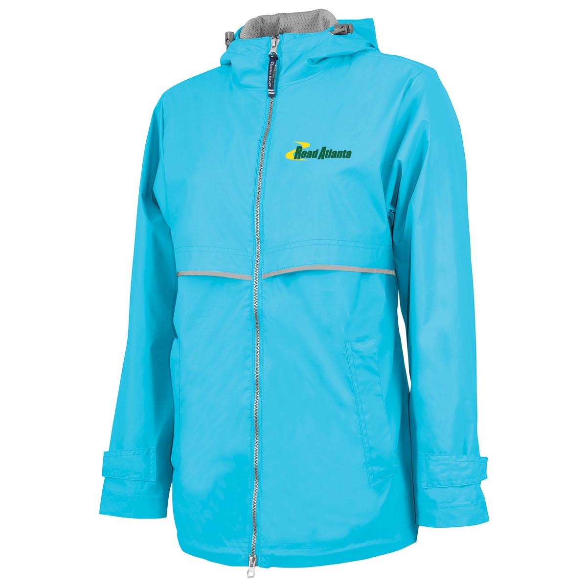Road Atlanta Ladies NE Rain Jacket- Wave Blue