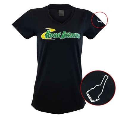 Road Atlanta Ladies V Neck - Black