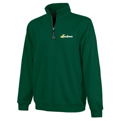 Road Atlanta  Crosswind Quarter Zip - Forest Green
