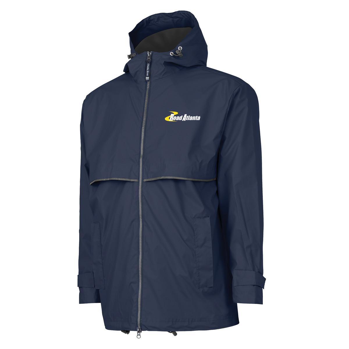 Road Atlanta New England Rain Jacket- Navy