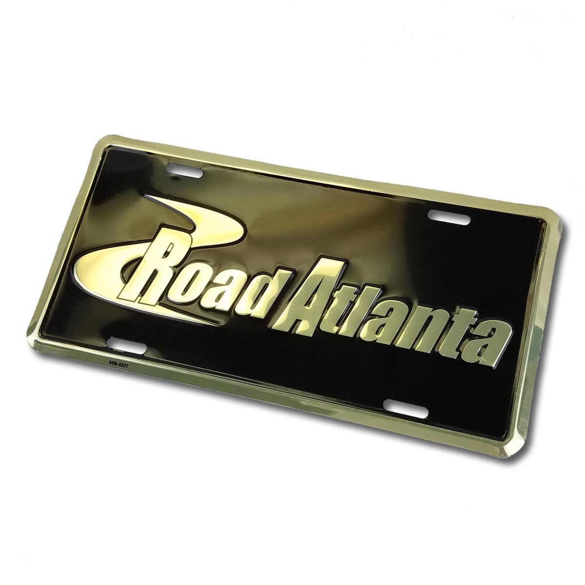 Road Atlanta Car Tag- blk/gold