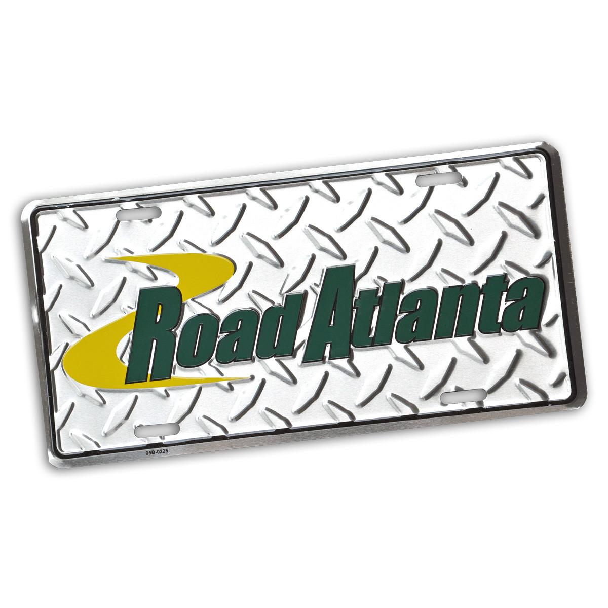 RA Diamond Plate Car Tag