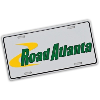 RA White Car Tag
