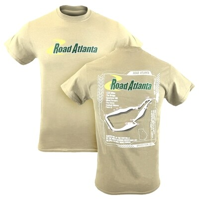 Road Atlanta 3D Track Outline Tee - Sand