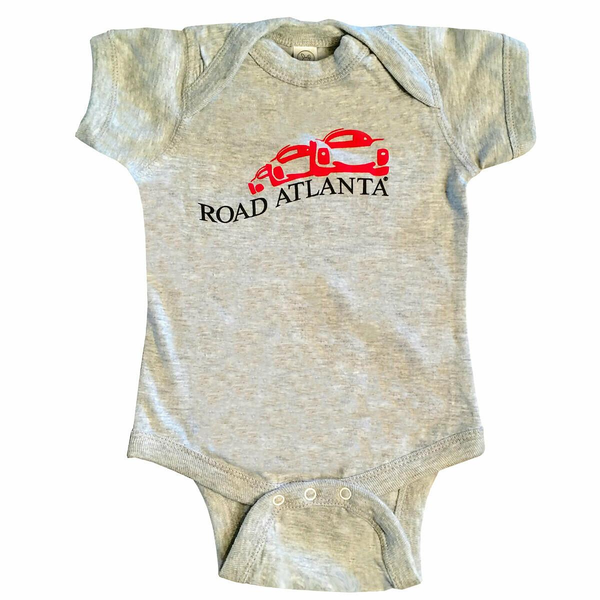 Road Atlanta Vintage Infant Onesie - Grey