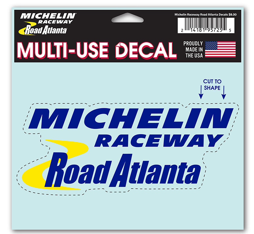Michelin Raceway Road Atlanta Logo Decal - Clear-White back