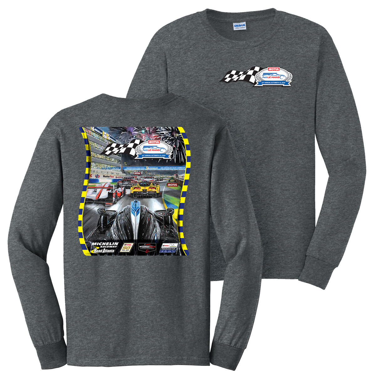 2019 Motul Petit Le Mans Long Sleeve Poster Tee - Dark Heather