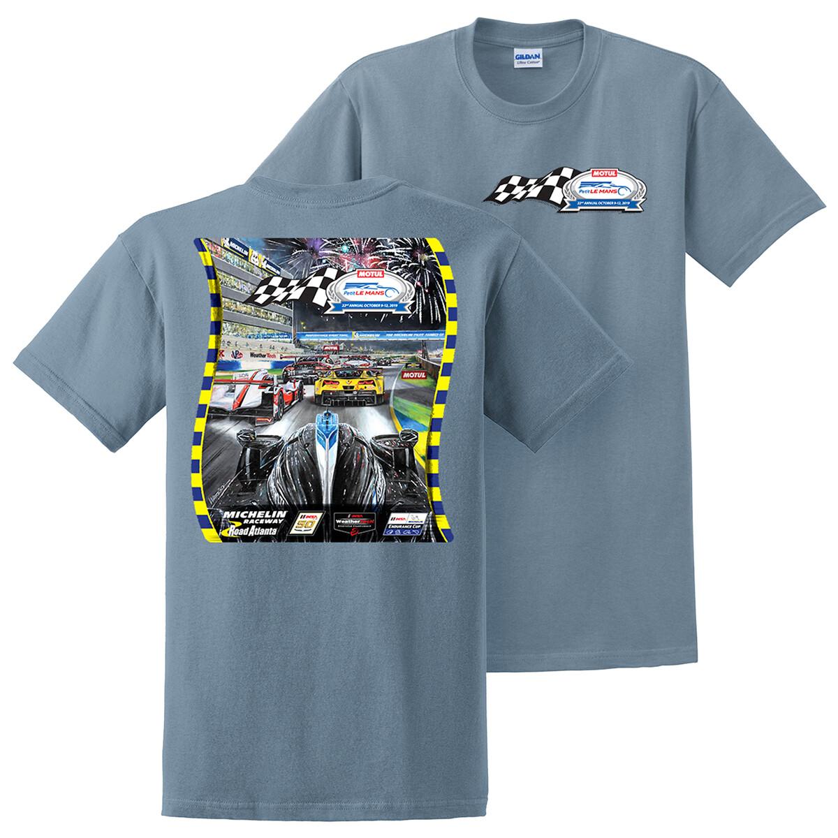 2019 Motul Petit Le Mans Poster Tee - Stone Blue