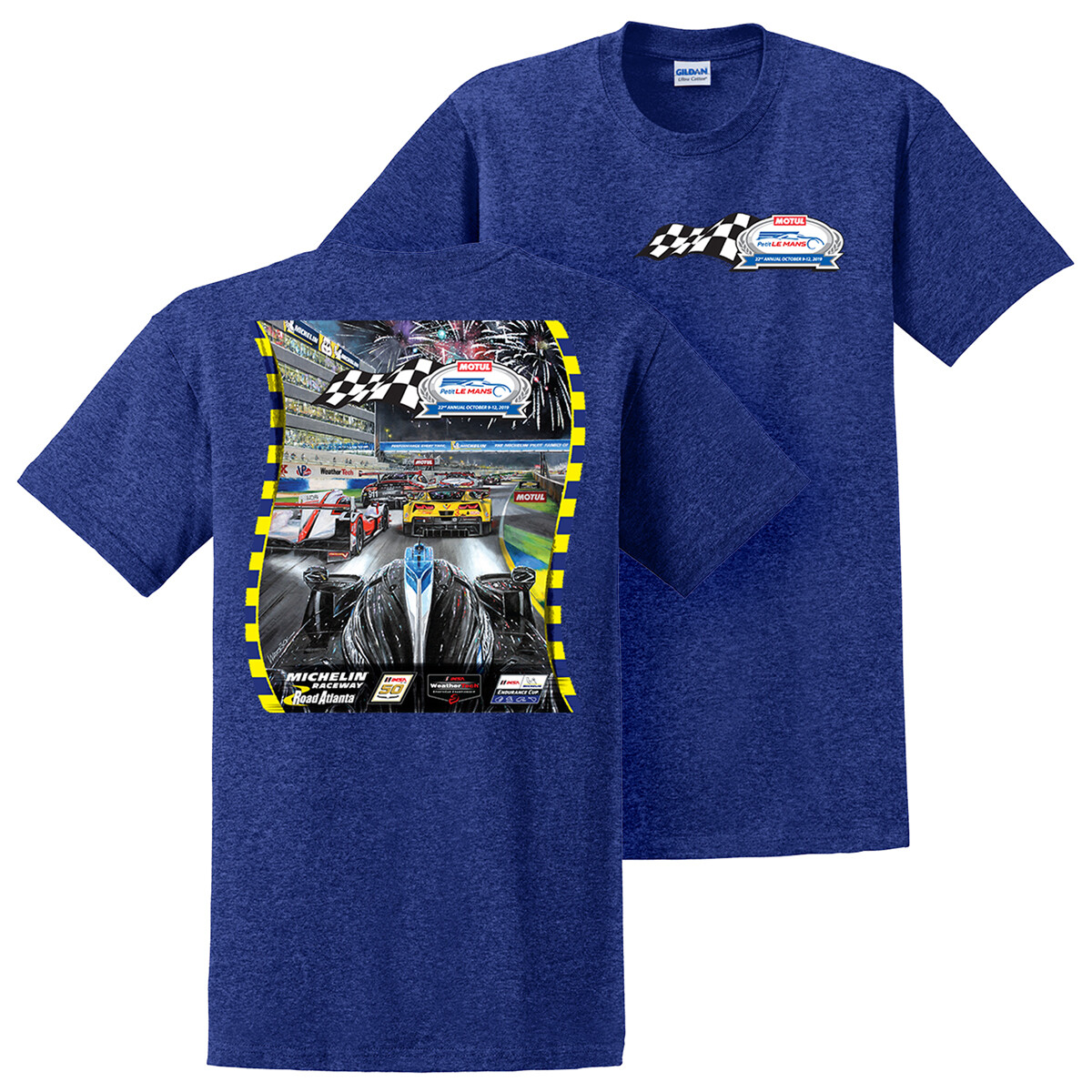 2019 Motul Petit Le Mans Poster Tee - Antique Royal