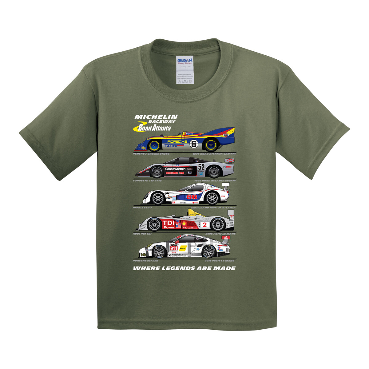 MRRA Youth Legends T-Green