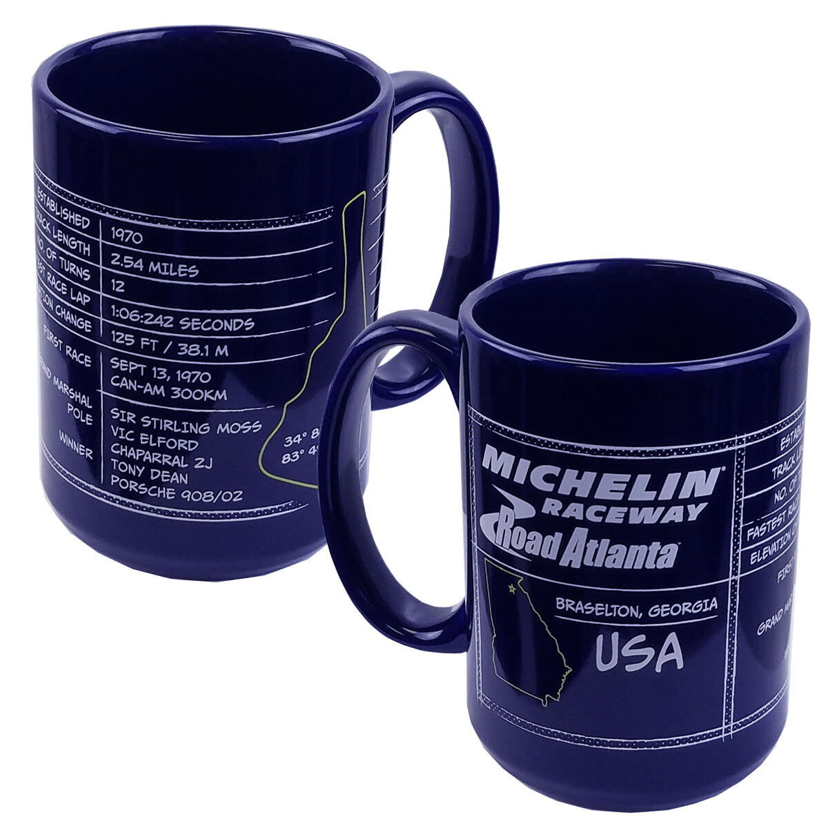 Michelin Raceway Road Atlanta Coffee Mug - Blue - 15 oz.