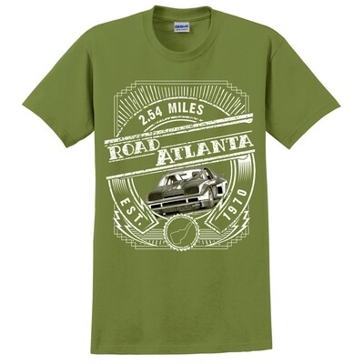 Road Atlanta Art Deco Tee- Military Green