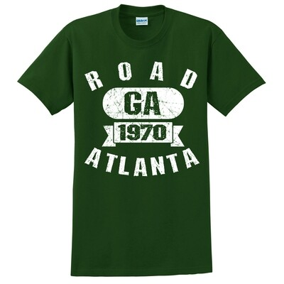 Road Atlanta Athletic Text Tee- Forest Green