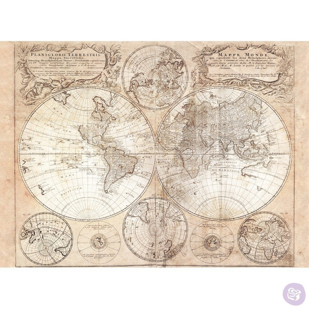 OLD WORLD MAP #635558