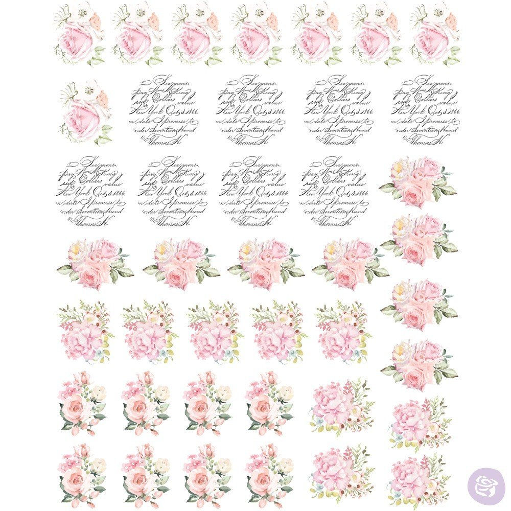 May Flowers Knob Transfer  #636753