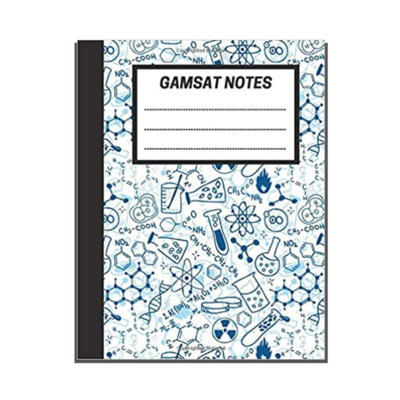 GAMSAT Notes: Lined Notebook - Organic Chemistry cover