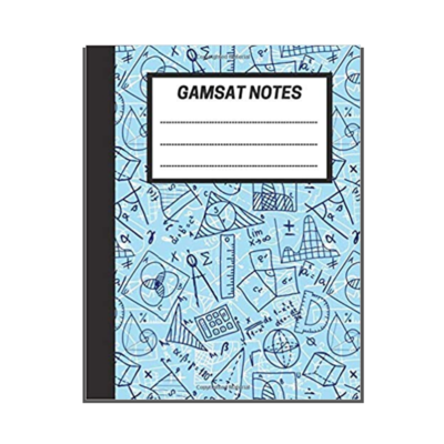 GAMSAT Notes: Lined Notebook - Mathematics cover
