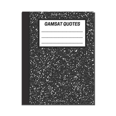GAMSAT Quotes: Black cover