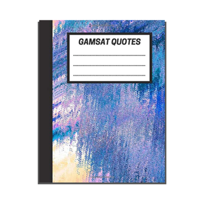 GAMSAT Quotes: Fractal Abstract Painting cover