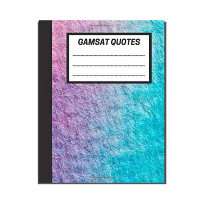 GAMSAT Quotes: Blue Pink Gradient Painting cover