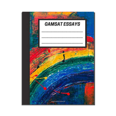 GAMSAT Essays: Abstract Rainbow Painting cover
