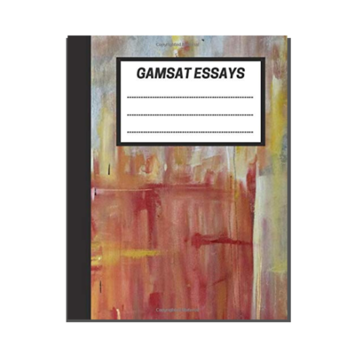 GAMSAT Essays: Grey Red Abstract Painting cover