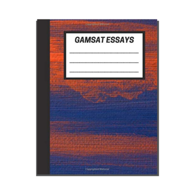 GAMSAT Essays: Blue Orange Painting cover