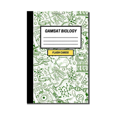 GAMSAT Biology Flashcard Notebook - Cell Biology Cover