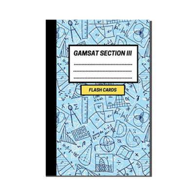 GAMSAT Section 3 Flashcard Notebook - Mathematical Arithmetic cover
