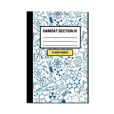 GAMSAT Section 3 Flashcard Notebook - Organic Chemistry cover