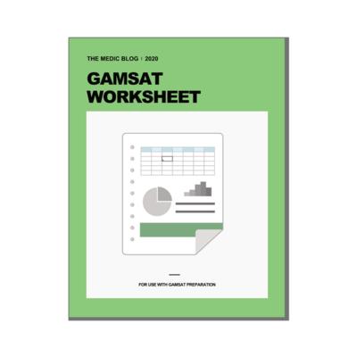 GAMSAT WORKSHEET