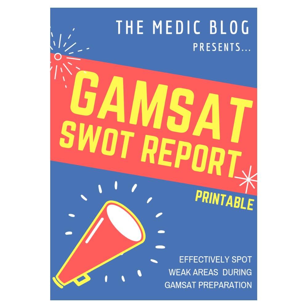 GAMSAT SWOT Sheet 017