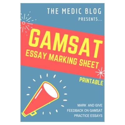 GAMSAT Essay Marking Sheet