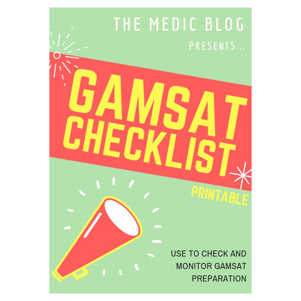 GAMSAT Checklist