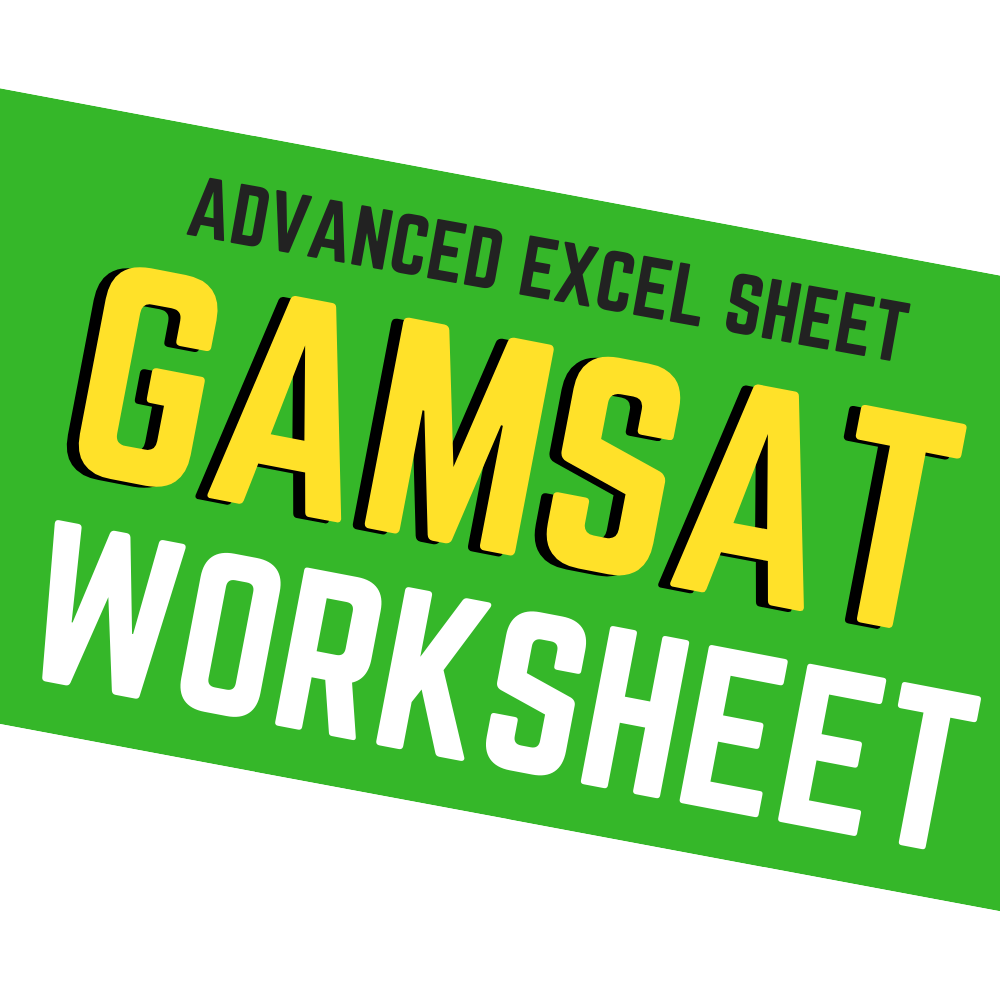 GAMSAT WORKSHEET