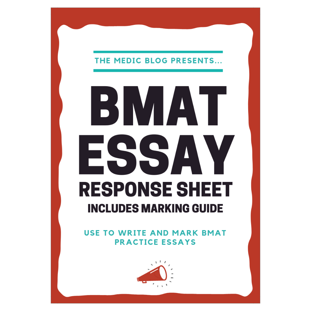 BMAT Essay Response Sheet and Marking Guide