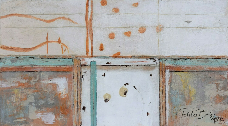 Original painting - Workers Club Wall (detail)
