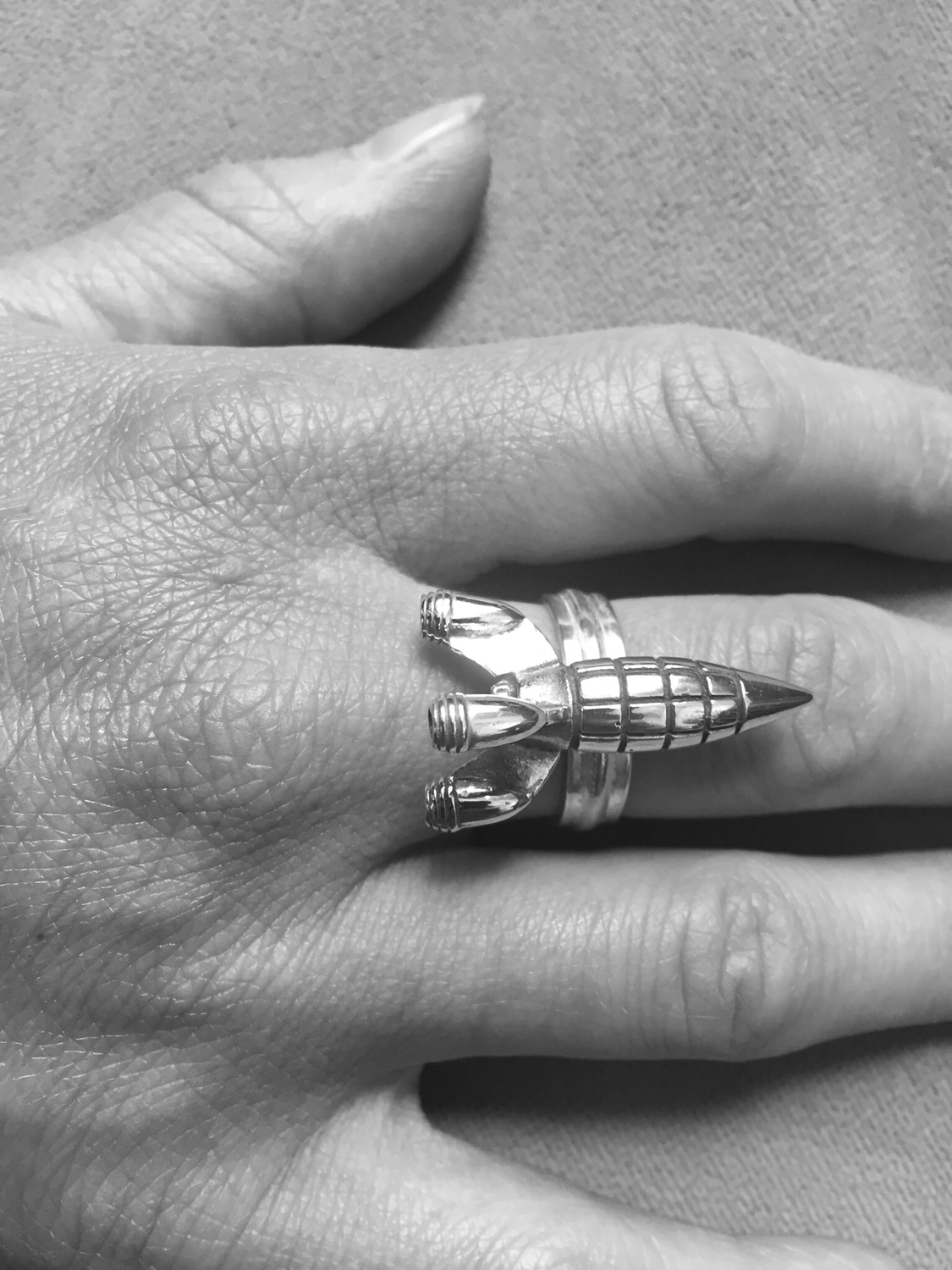 Transportation Series Rocket Ring